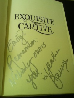 Exquisite Captive signed