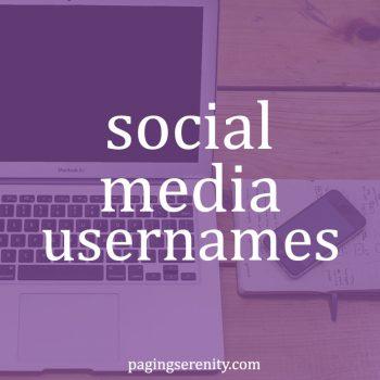 Social Media Usernames
