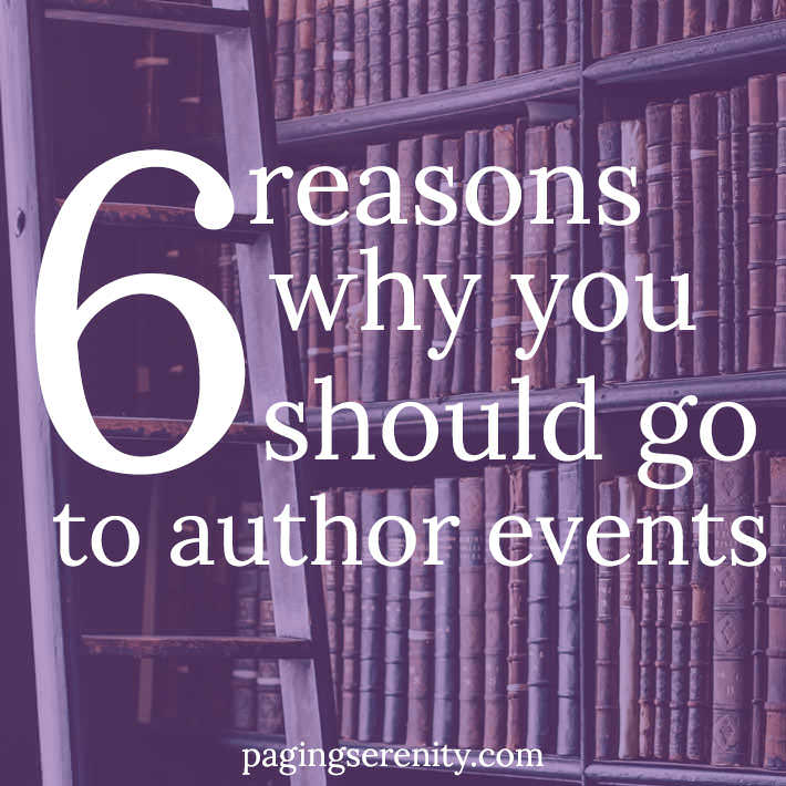 Why You Should Go to Author Events