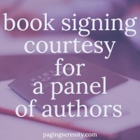 Book Signing Courtesy for Multiple Authors