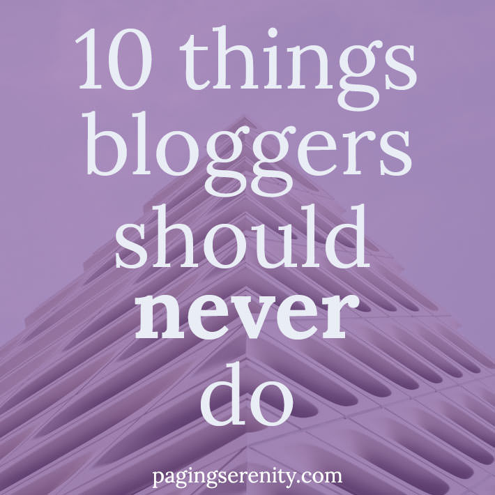 10 Things Book Bloggers Should NEVER Do