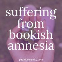 Suffering from Bookish Amnesia