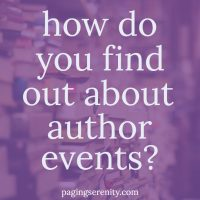 How do you find out about events?