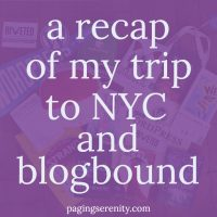 Wandering Around NYC – #blogboundcon Recap