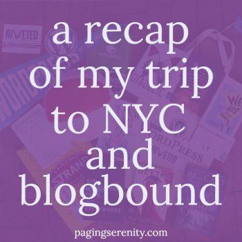 Wandering Around NYC – #blogboundcon Recap