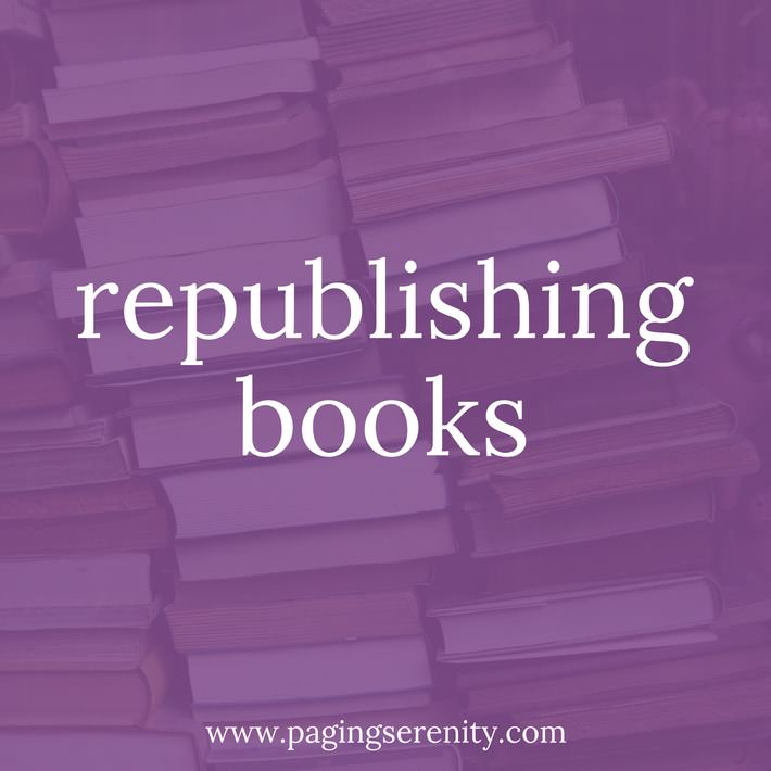 Republishing books