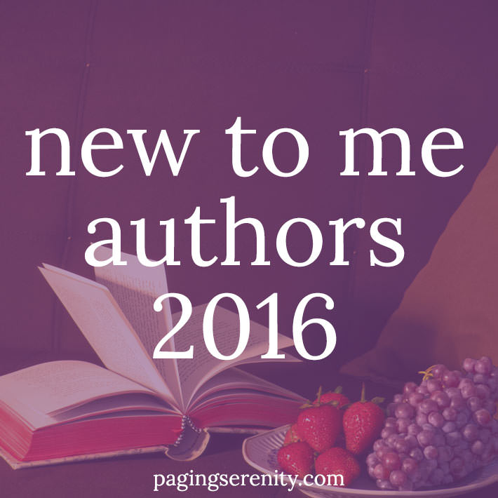 New to me authors in 2016