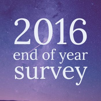 2016 End of Year Survey