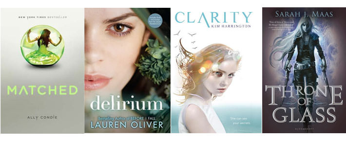 Matched, Delirium, Clarity, Throne of Glass