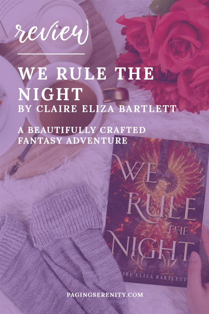 Review graphic for WE RULE THE NIGHT by Claire Bartlett