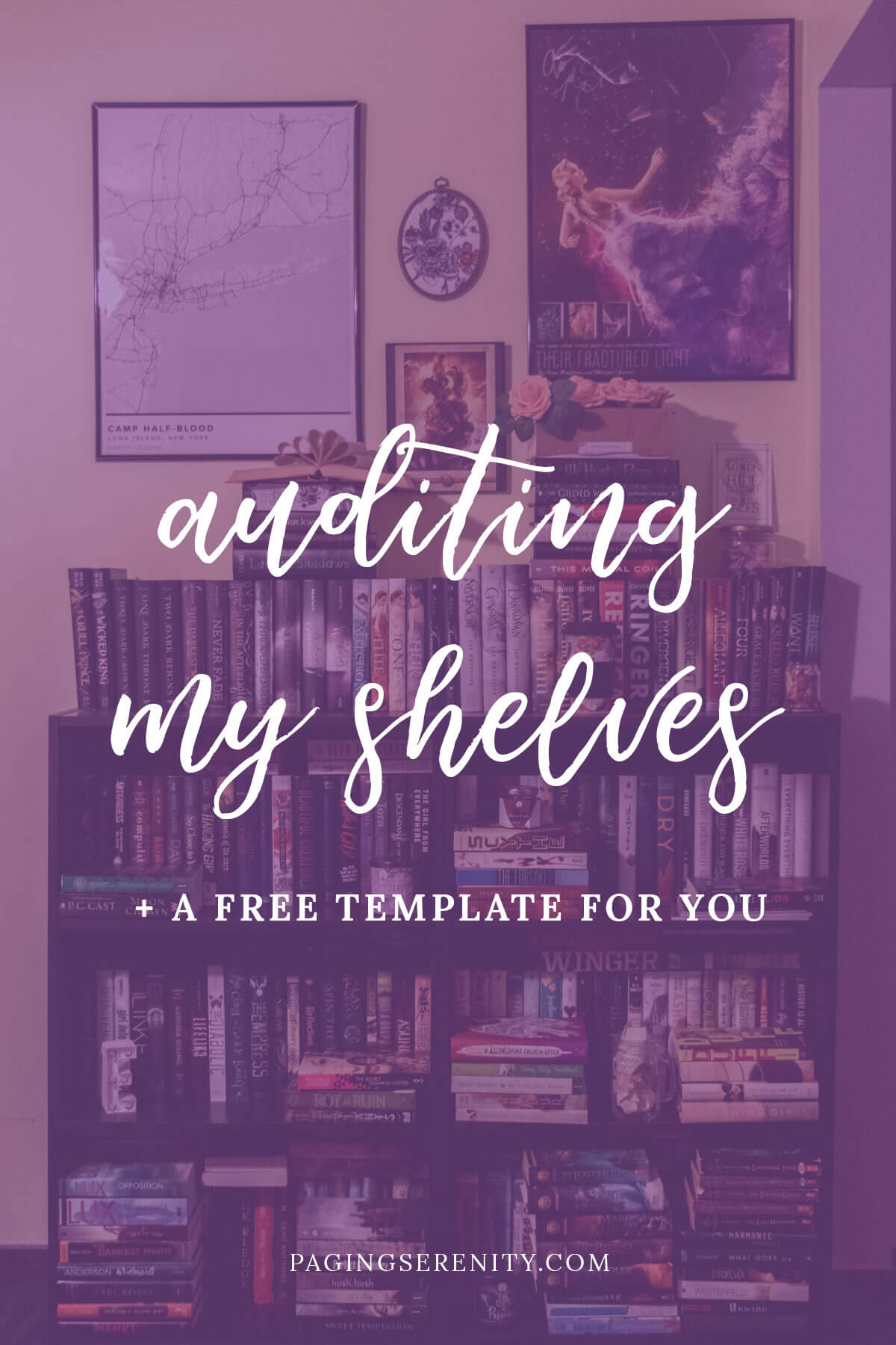 auditing my shelves + a free template for you