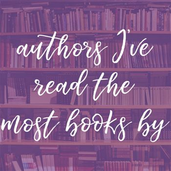 My Most Read Authors